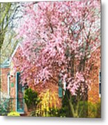 Spring - Cherry Tree By Brick House Metal Print