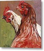 Spring Chickens Metal Print