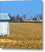 Spring Cleaning The Small Barn Metal Print