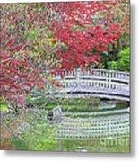 Spring Color Over Japanese Garden Bridge Metal Print