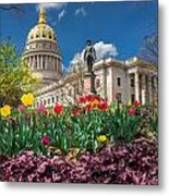 Spring Comes To Wv Capitol Metal Print