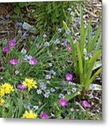 Spring Cottage Garden Metal Print