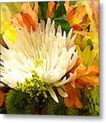 Spring Flower Burst Metal Print