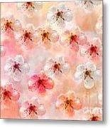 Spring Flowers Abstract 5 Metal Print