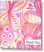 Spring Flowers Thank You Card Metal Print by Linda Woods