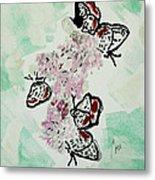 Spring Flutter Metal Print