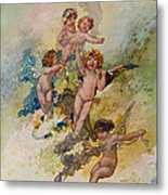 Spring From The Seasons Commissioned For The 1920 Pears Annual Metal Print