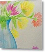Spring In A Vase Metal Print