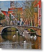 Spring In Bruges Metal Print