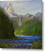Spring In The Rockies Metal Print by C Steele