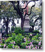 Spring In The Square Metal Print