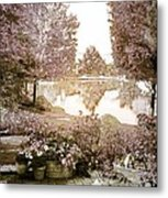 Spring Magical Fairyland Lake Metal Print