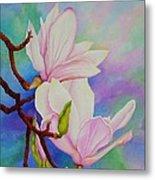 Spring Magnolia Metal Print