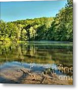 Spring Mill Lake Metal Print