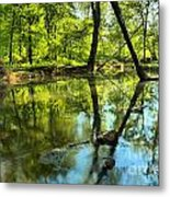 Spring Mill Reflections Metal Print