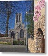 Spring Morning Brides Cottage Tickhill Yorkshire Metal Print
