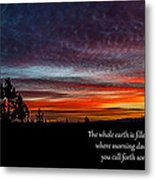 Spring Peaceful Morning Sunrise Bible Verse Photography Metal Print