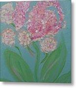 Spring Pink Flowers 1 Metal Print