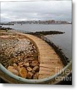 Spring Point Lighthouse Porthole Metal Print