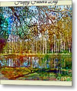 Spring Pond Photoart Father's Day Metal Print