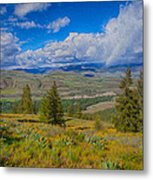 Spring Rain Across A Valley Metal Print