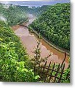 Spring Rains Comes To The New River Metal Print