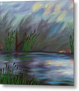 Spring Reed In The Canyon Metal Print