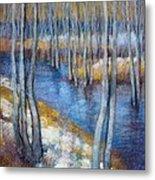 Spring River Thaw Metal Print