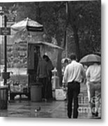 Spring Shower - Rainy Day In New York Metal Print