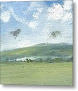 Spring Sky Bembridge Down Metal Print by Alan Daysh