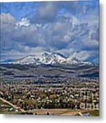 Spring Snow On Squaw Butte Metal Print
