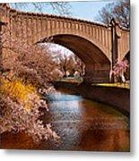 Spring - Springtime In Newark Metal Print