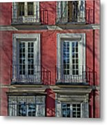 Spring Sunshine In Madrid Metal Print