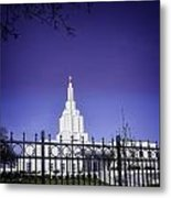 Spring Time At The Idaho Falls Temple Metal Print
