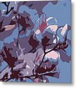 Spring Tulip Tree Abstract Metal Print