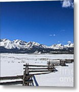 Spring View Of The Sawtooth Mountains Metal Print