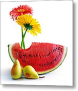 Spring Watermelon Metal Print
