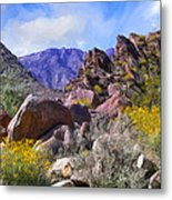 Spring Wildflowers At Anza Borrego Metal Print
