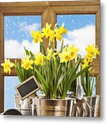 Spring Window Metal Print