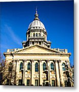 Springfield Illinois State Capitol Building Metal Print by Paul Velgos