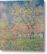 Springtime At Giverny Metal Print by Claude Monet