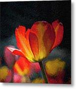Springtime Tulips Digital Painting Metal Print
