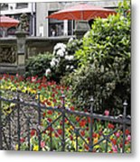 Springtime Tulips In Cologne Germany Metal Print
