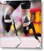 Sprinter At Start Of Paralympics 100m Metal Print