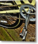 Sprocket And Chain Metal Print