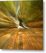 Spruce Flats Falls Explosion Metal Print