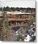 Spruce Tree Cliff Dwelling Canyon Metal Print