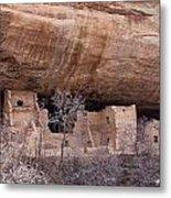 Spruce Tree Cliff Dwelling Metal Print