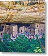 Spruce Tree House On Chapin Mesa In Mesa Verde National Park-colorado  Metal Print