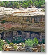Spruce Tree House Pueblo On Chapin Mesa In Mesa Verde National Park-colorado Metal Print
